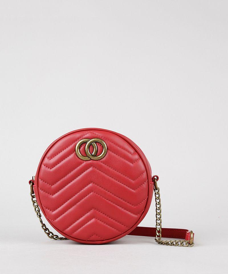 Bolsa-Feminina-Transversal-Pequena-Redonda-com-Matelasse-Vermelha-9484883-Vermelho_1