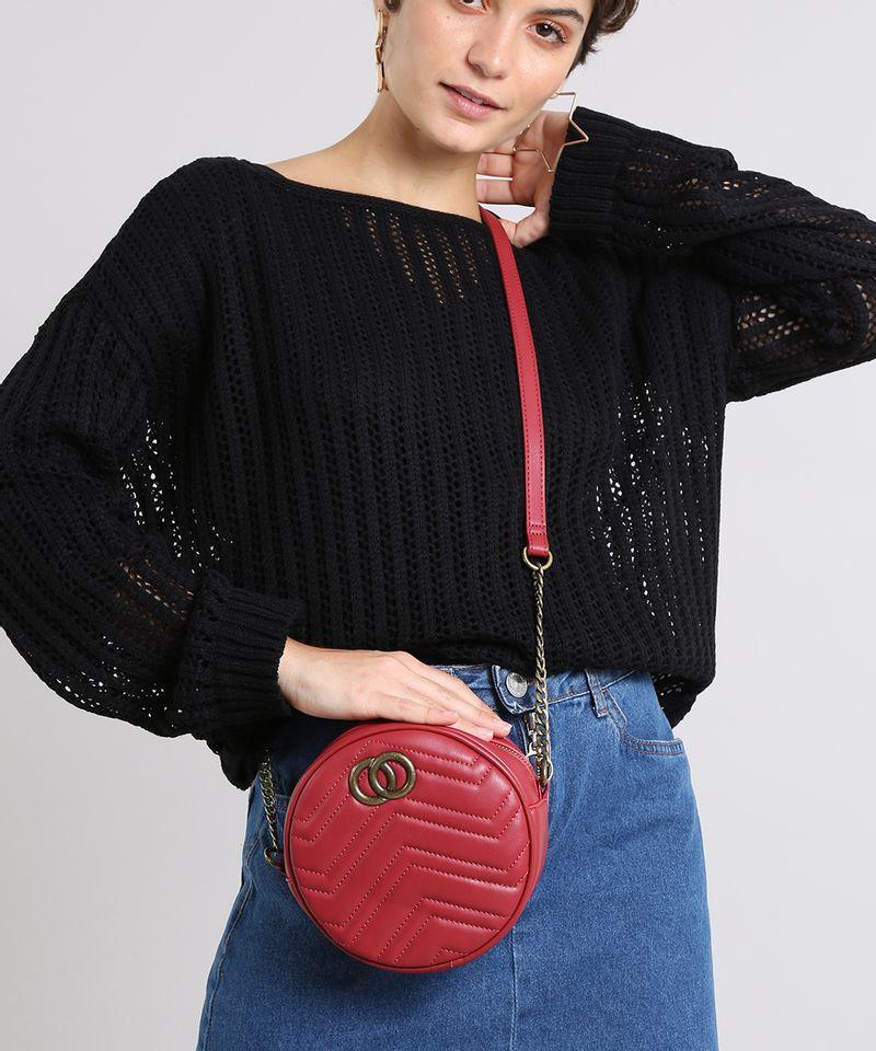 Bolsa-Feminina-Transversal-Pequena-Redonda-com-Matelasse-Vermelha-9484883-Vermelho_2