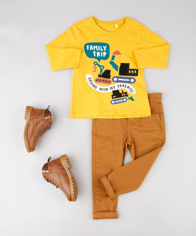 Camiseta-Infantil-com-Estampa-Interativa-de-Carros-Manga-Longa-Mostarda-9530790-Mostarda_3