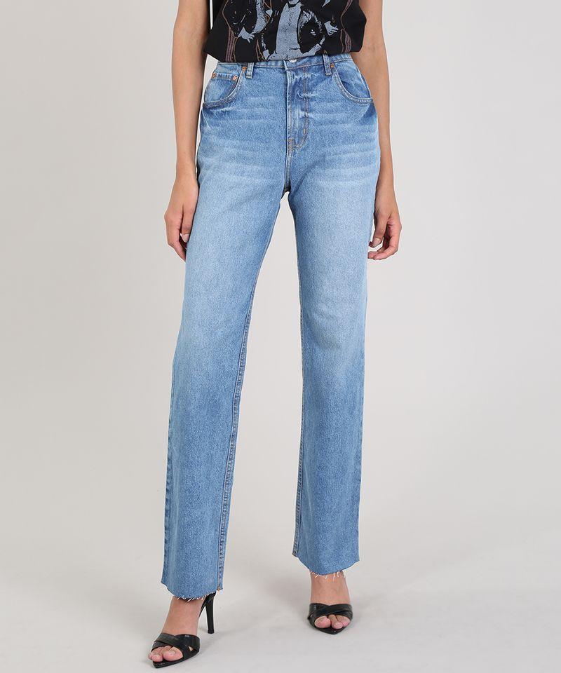 Calca-Jeans-Feminina-Mindset-Reta-Azul-Medio-9687366-Azul_Medio_1