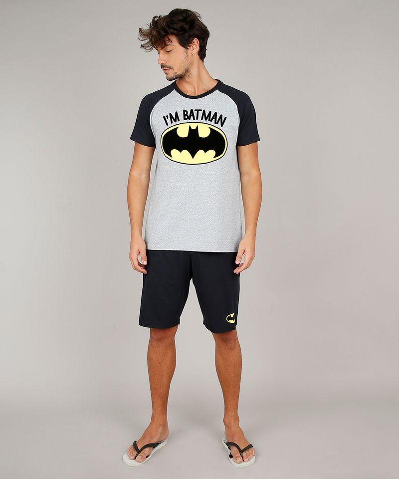 Pijama-Masculino-Tal-Pai-Tal-Filho-Batman-Raglan-Manga-Curta-Cinza-Mescla-9627108-Cinza_Mescla_1