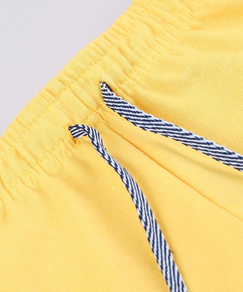Bermuda-Infantil-em-Moletom-com-Bolso-Barra-Dobrada--Amarela-9548922-Amarelo_5