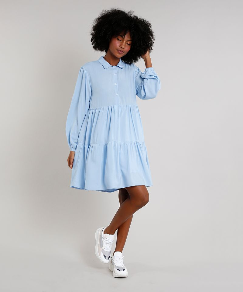 Vestido-Feminino-Mindset-Curto-com-Babados-Manga-Bufante-Gola-Esporte-Azul-Claro-9752545-Azul_Claro_3