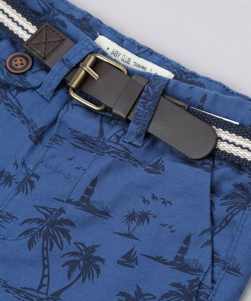 Bermuda-de-Sarja-Infantil-Estampada-de-Coqueiros-com-Cinto-Azul-Marinho-9563571-Azul_Marinho_4