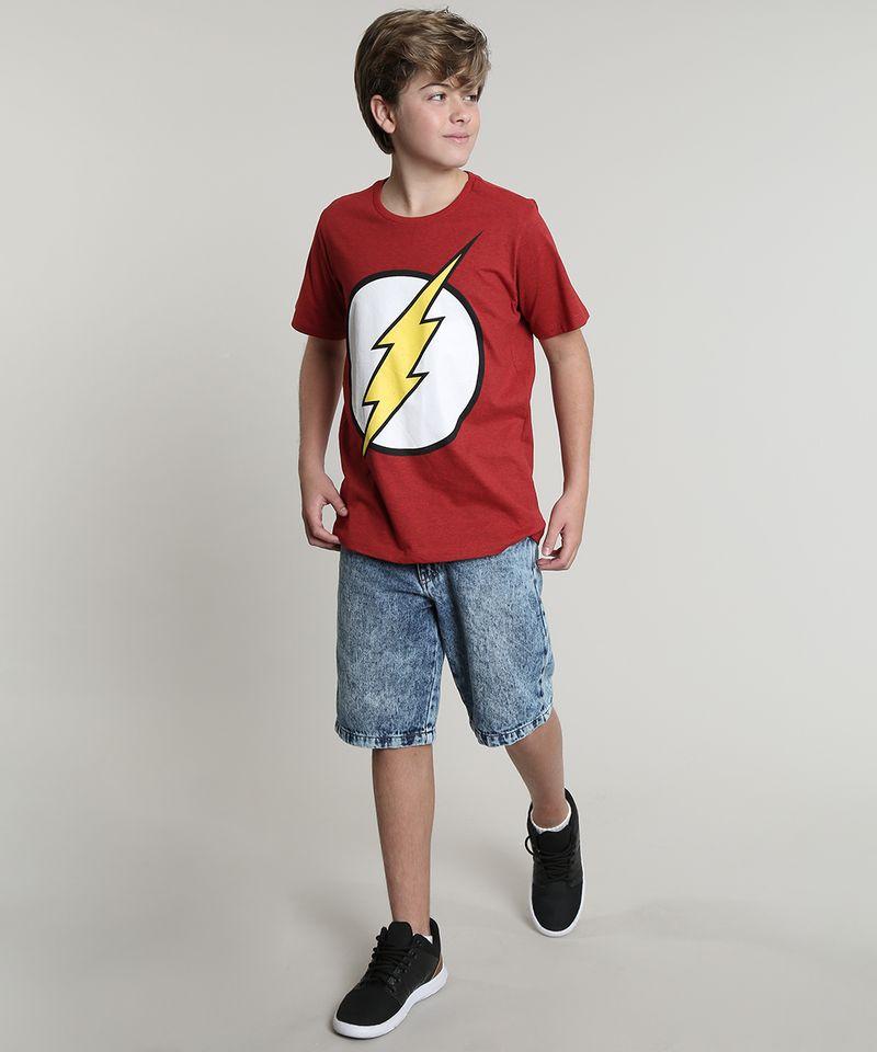 Camiseta-Infantil-The-Flash-Manga-Curta-Gola-Careca-Vermelha-8397550-Vermelho_3