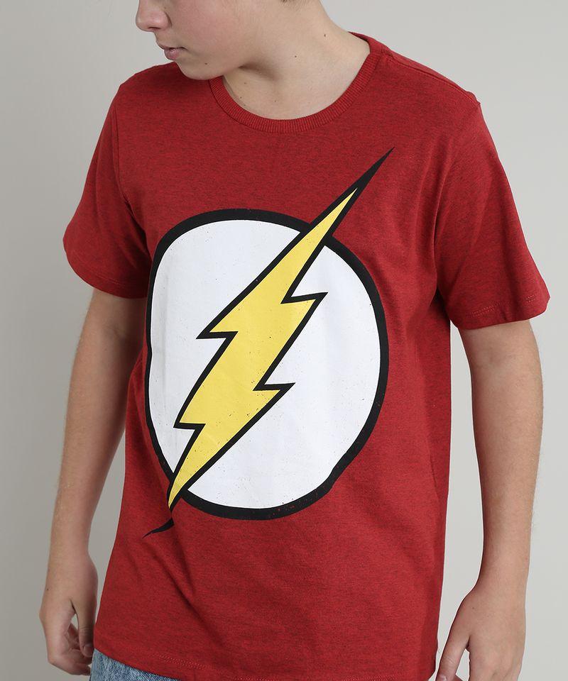Camiseta-Infantil-The-Flash-Manga-Curta-Gola-Careca-Vermelha-8397550-Vermelho_4