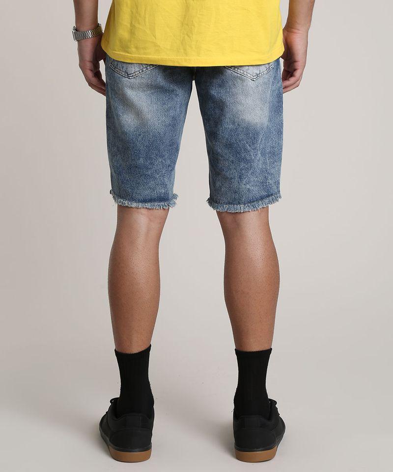 Bermuda-Jeans-Masculina-Slim-com-Barra-Desfiada-Azul-Medio-9781412-Azul_Medio_4