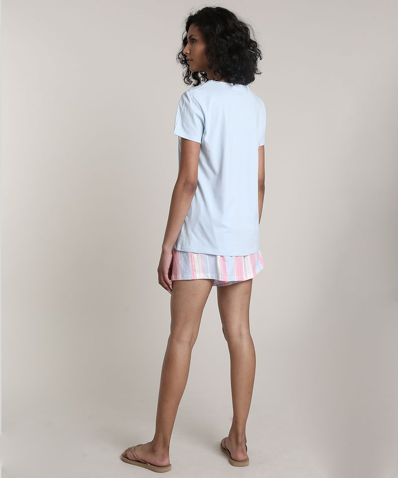 Pijama-Feminino-Mickey--Cool--Manga-Curta-Azul-Claro-9610506-Azul_Claro_2