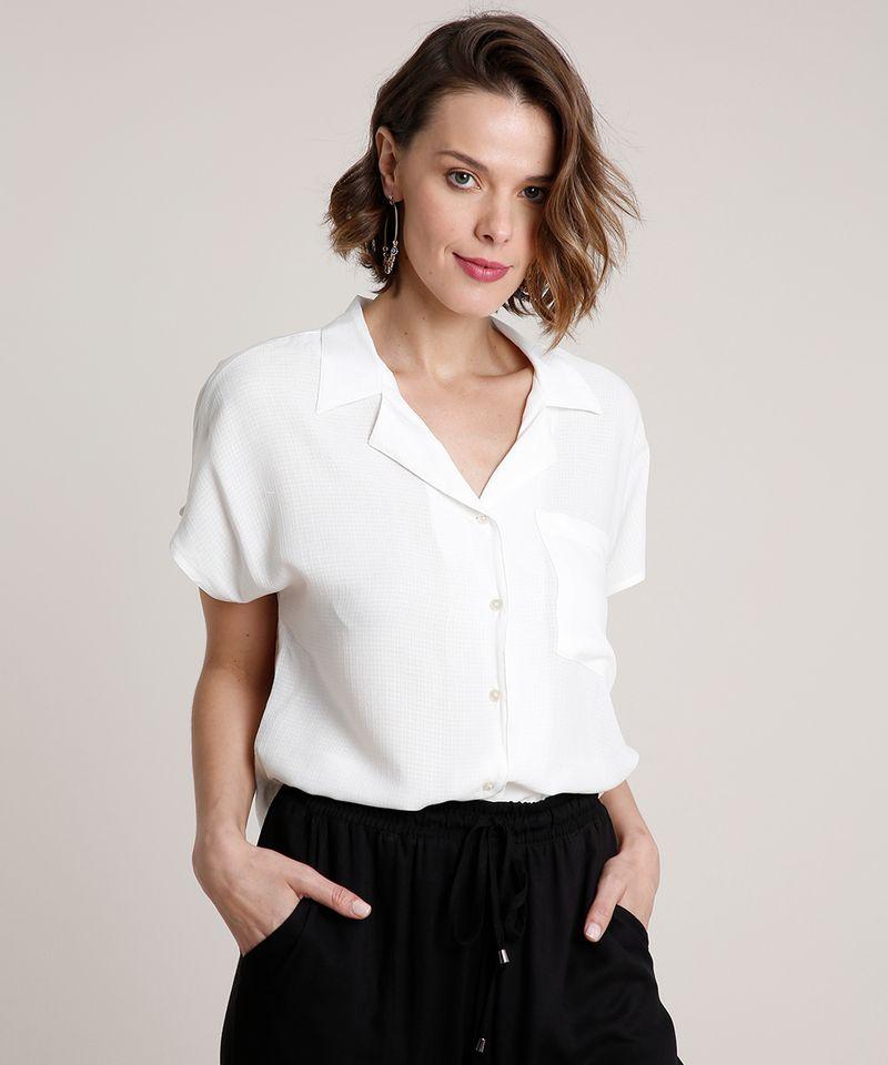 Camisa-Feminina-Ampla-com-Bolso-Manga-Curta-Off-White-9776961-Off_White_1