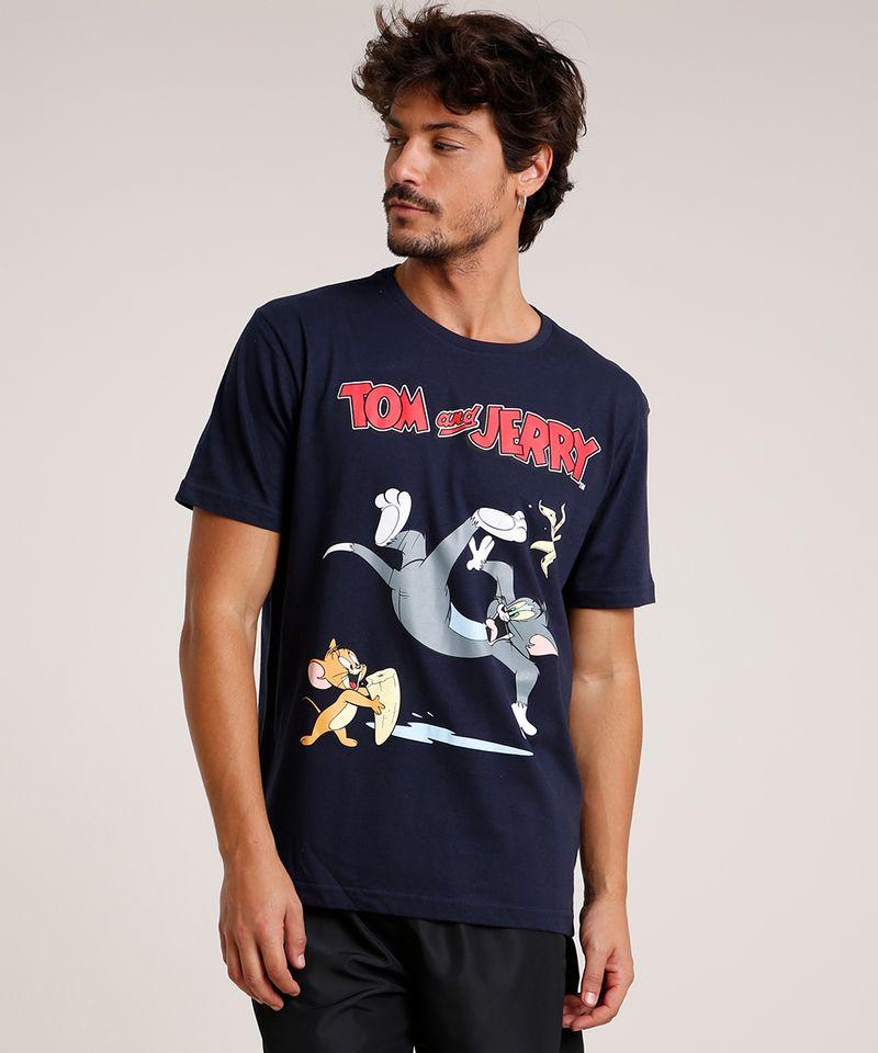 Camiseta-Masculina-Tom-e-Jerry-Manga-Curta-Gola-Careca-Azul-Marinho-9800794-Azul_Marinho_1