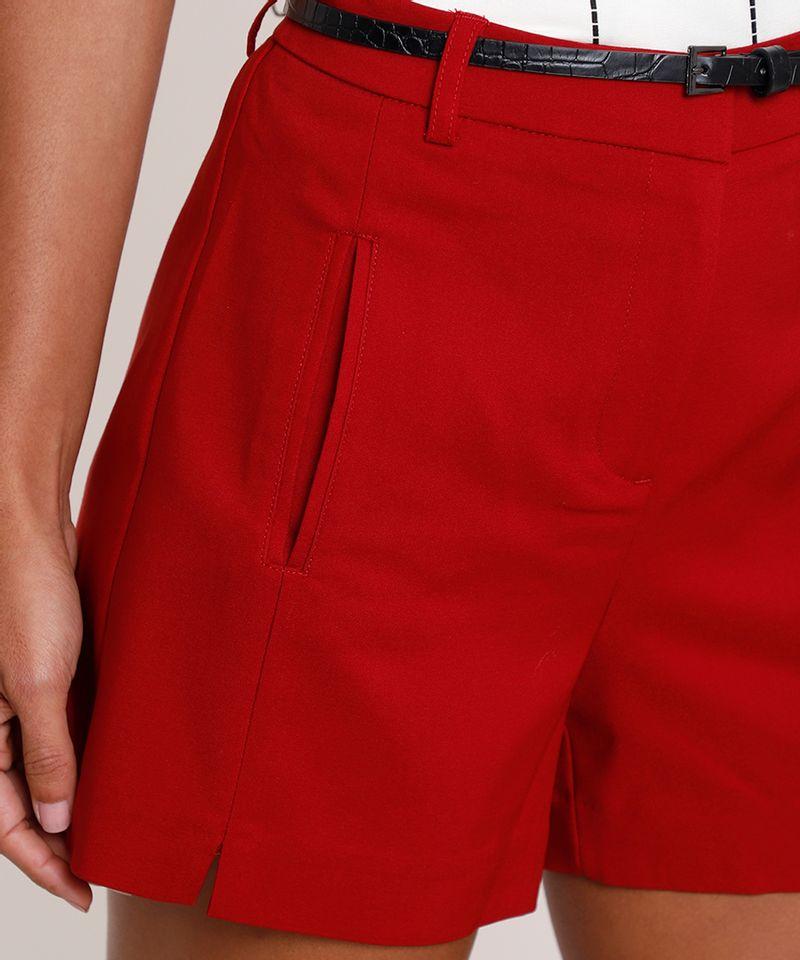 Short-Feminino-Alfaiatado-com-Cinto-Texturizado-Croco-Vermelho-9825476-Vermelho_4