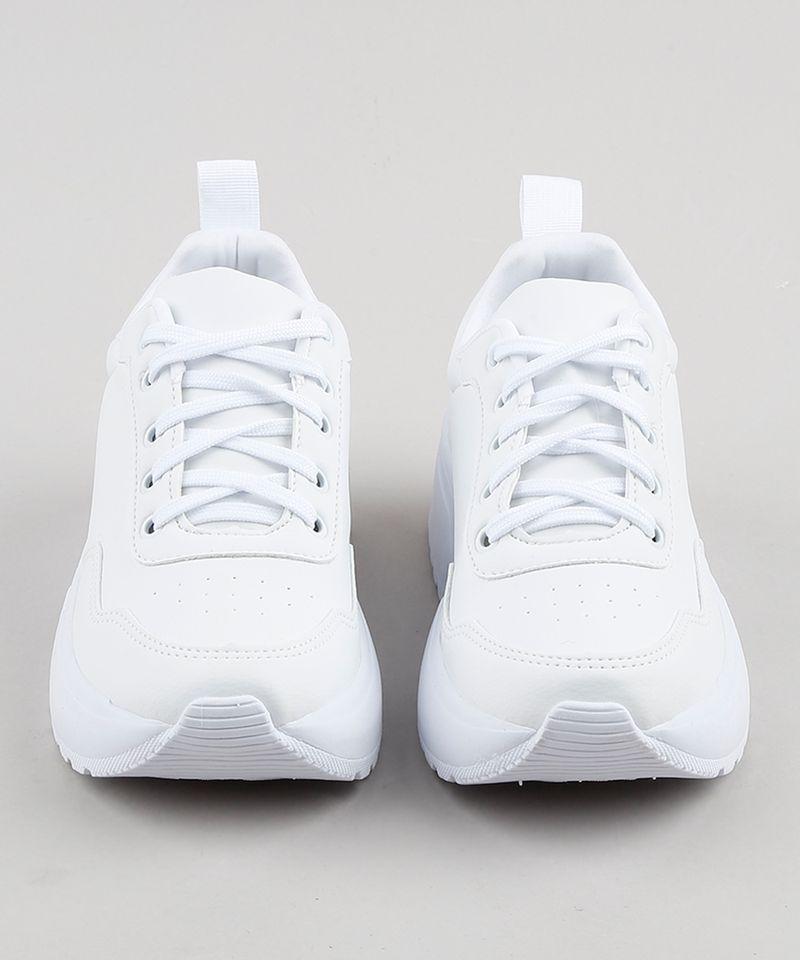 Tênis Branco Feminino Oneself Frente