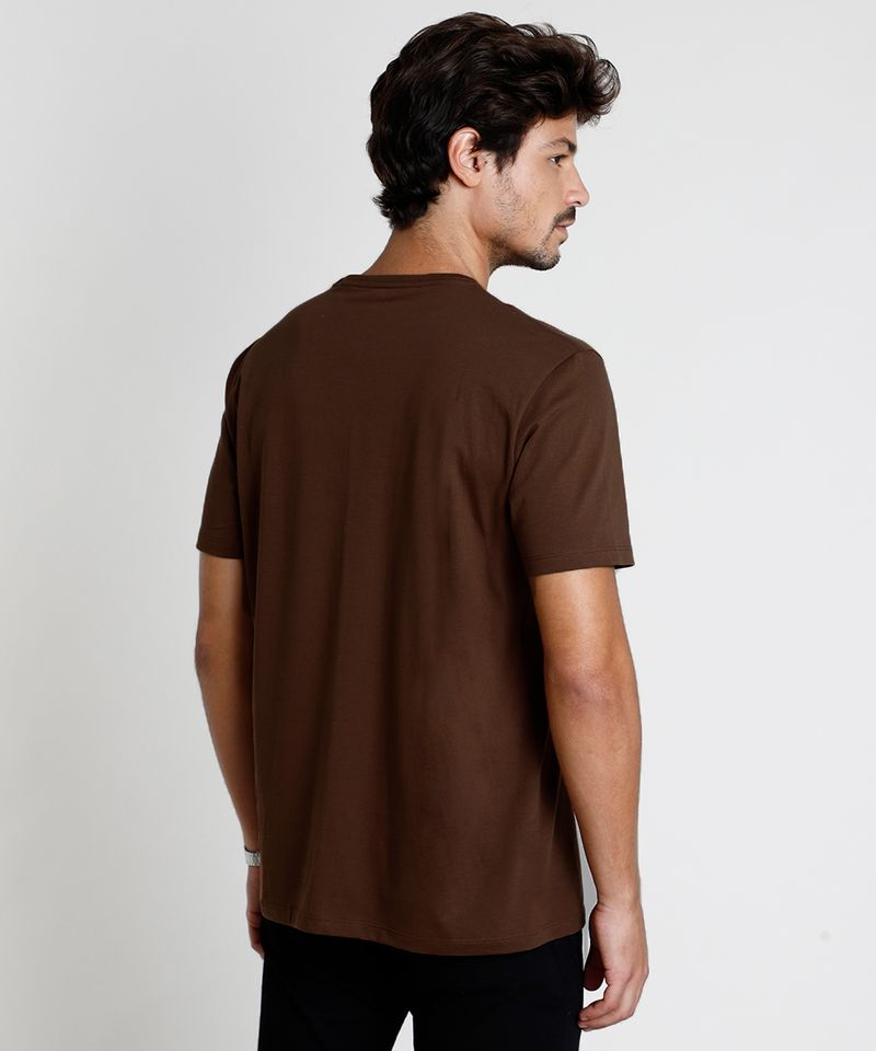 Camiseta-Masculina-Basica-Manga-Curta-Gola-Careca-Marrom-8472740-Marrom_2