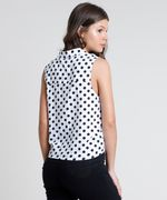 Camisa-Feminina-Estampada-de-Poa-com-No-e-Bolso-Sem-Manga-Branca-9807034-Branco_2