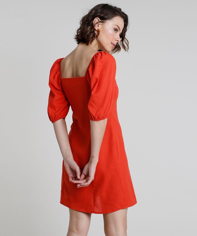 Vestido-Feminino-Curto-com-Linho-e-Botoes-Manga-Bufante-Laranja-9891199-Laranja_2