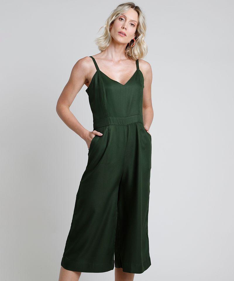 Macacao-Feminino-Pantacourt-com-Bolsos-Alca-Fina-Verde-Escuro-9893643-Verde_Escuro_1