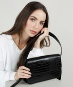Bolsa-Feminina-Baguete-Media-Texturizada-Croco-Preta-9628953-Preto_3
