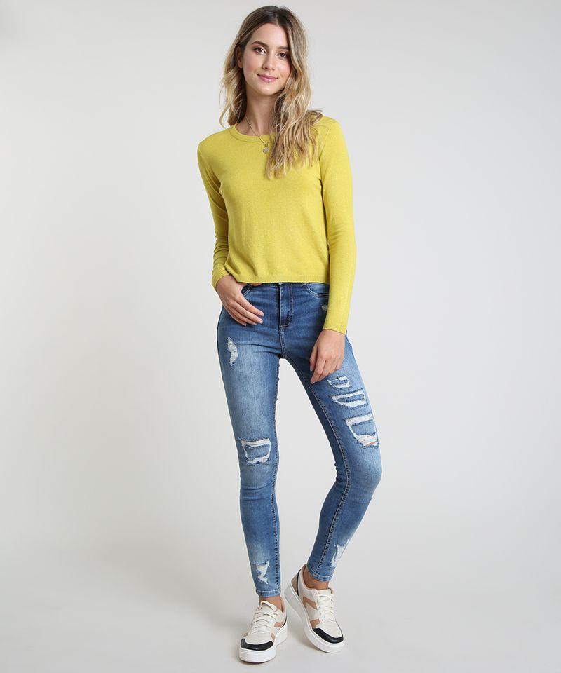 Sueter-Feminino-Basico-em-Trico-Decote-Redondo-Verde-Claro-9325342-Verde_Claro_3