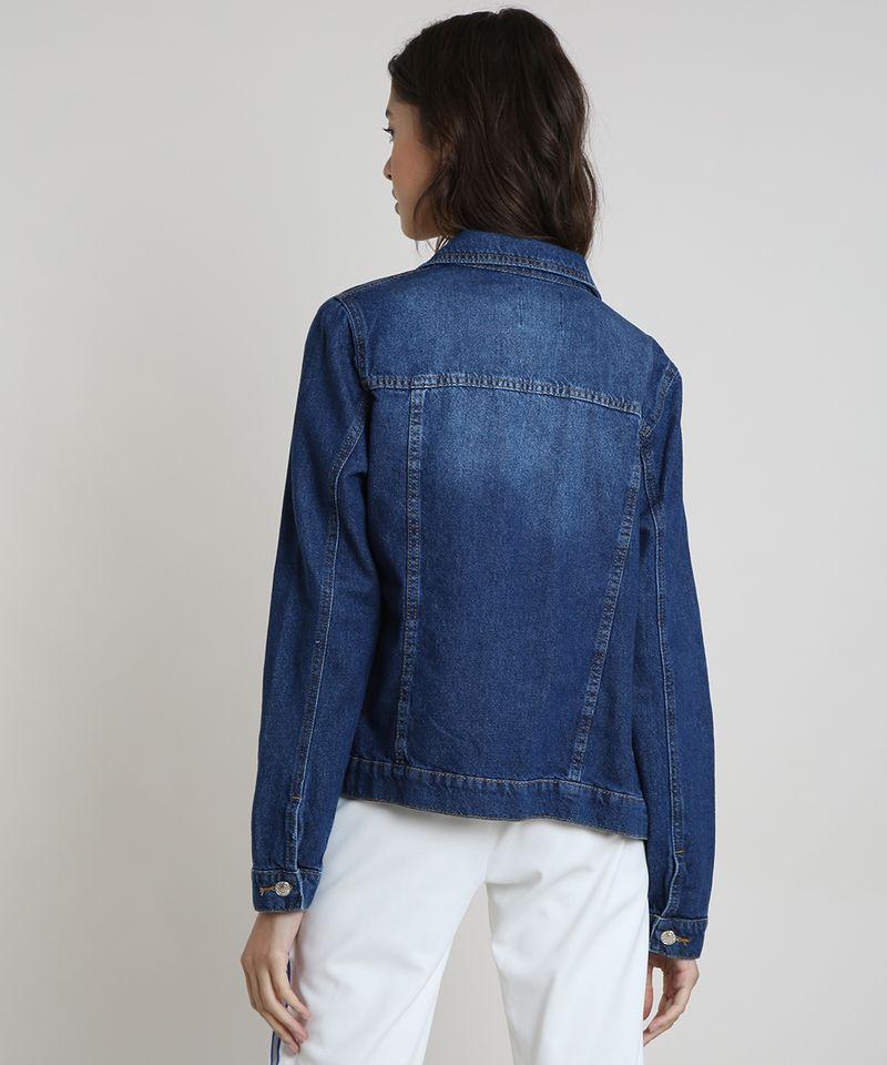 Jaqueta-Jeans-Feminina-com-Bolsos-Azul-Escuro-9859544-Azul_Escuro_2