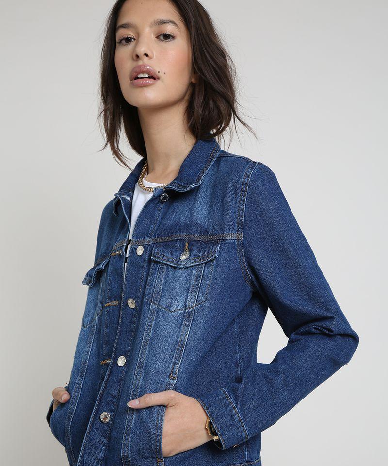 Jaqueta-Jeans-Feminina-com-Bolsos-Azul-Escuro-9859544-Azul_Escuro_4
