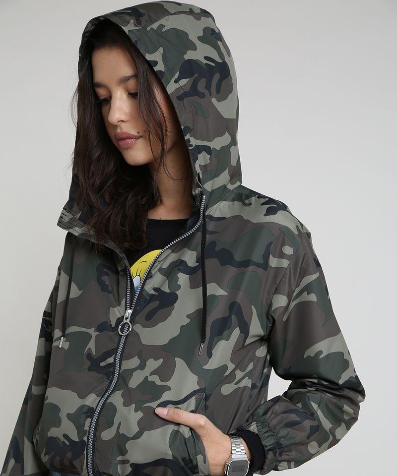 Jaqueta-Corta-Vento-Feminina-Estampada-Camuflada-com-Capuz-Verde-Militar-9786532-Verde_Militar_4