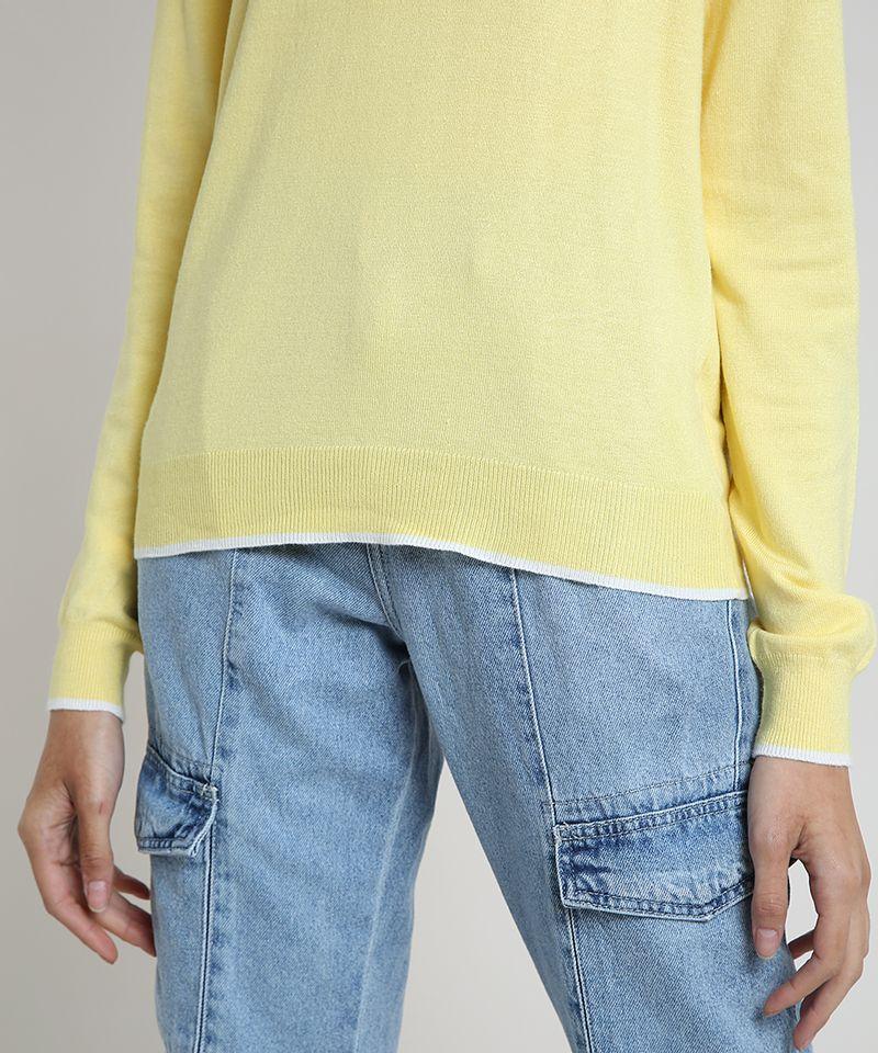 Sueter-Feminino-Basico-em-Trico-Decote-Redondo-Amarela-9325451-Amarelo_4
