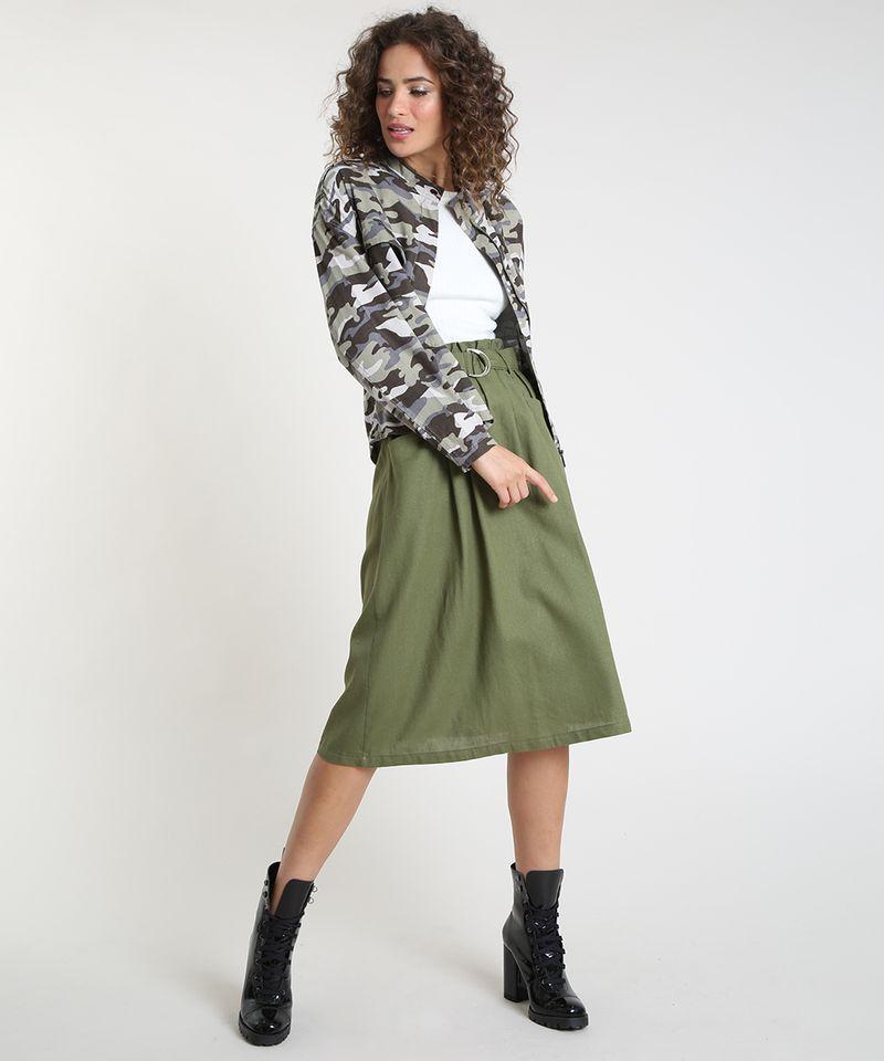 Saia-Feminina-Midi-Listrada-com-Linho-e-Cinto-Verde-Militar-9872782-Verde_Militar_3