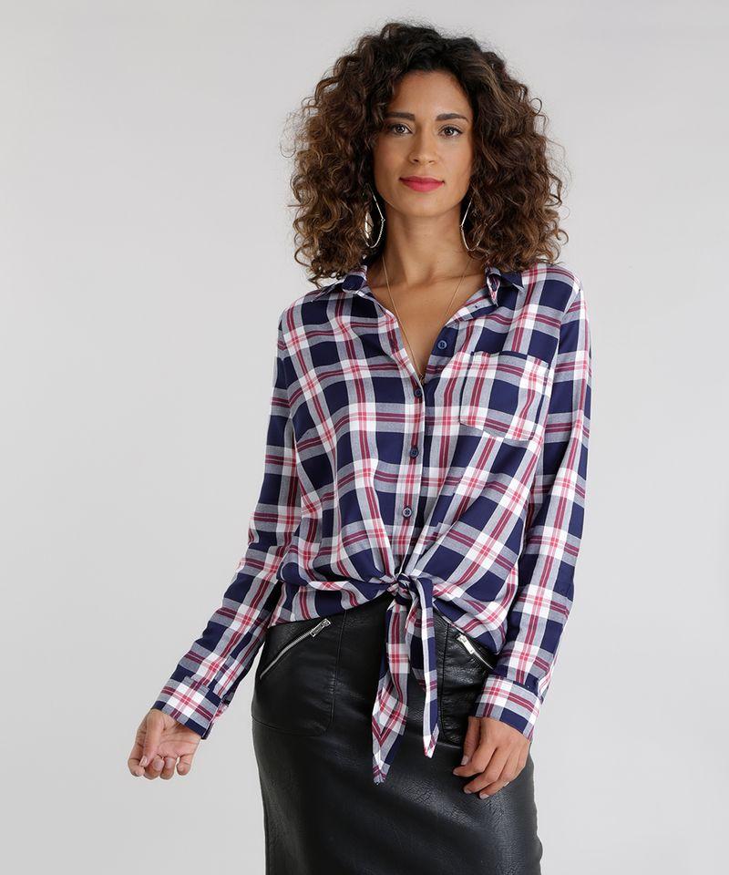 Camisa-Xadrez-com-No-Azul-Marinho-8623719-Azul_Marinho_5