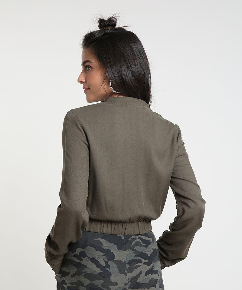 Jaqueta-Bomber-Feminina-Cropped-com-Bolsos-Verde-Militar-9394139-Verde_Militar_2