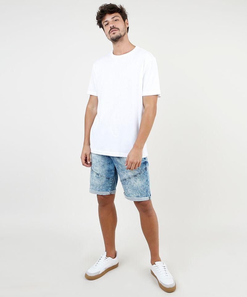 Bermuda-Jeans-Masculina-Slim-com-Recortes-e-Barra-Dobrada-Azul-Medio-9860116-Azul_Medio_3