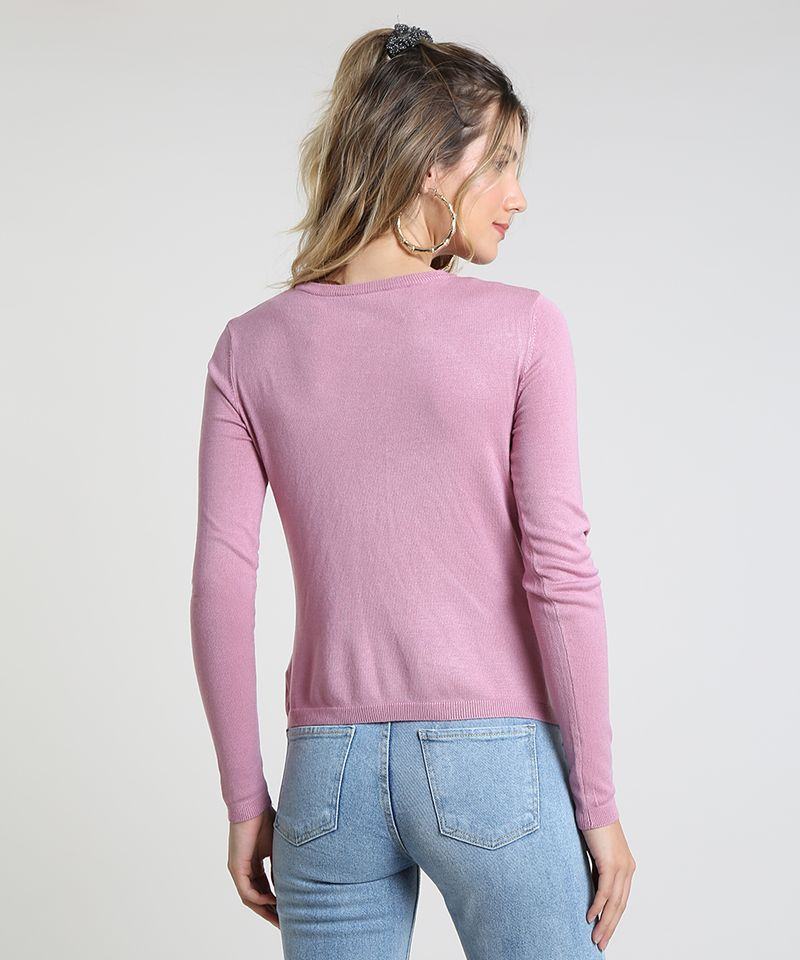 Sueter-Feminino-Basico-em-Trico-Decote-Redondo-Rose-9325342-Rose_2