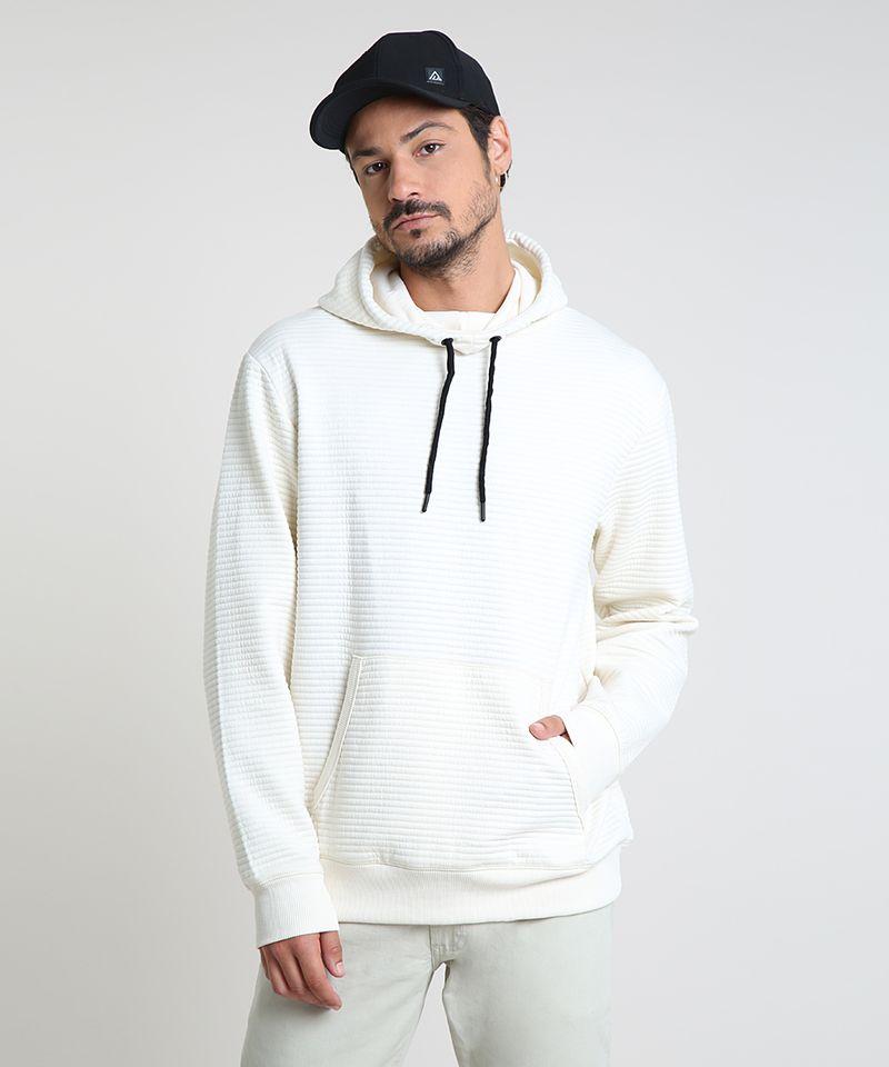 Blusao-Masculino-em-Moletom-Texturizado-com-Capuz-Branco-9781712-Branco_1