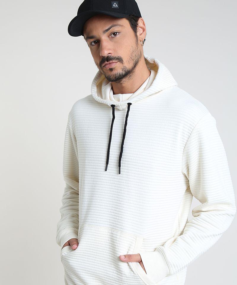 Blusao-Masculino-em-Moletom-Texturizado-com-Capuz-Branco-9781712-Branco_4