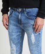 Calca-Jeans-Masculina-Super-Skinny-Destroyed-Azul-Medio-9884263-Azul_Medio_2