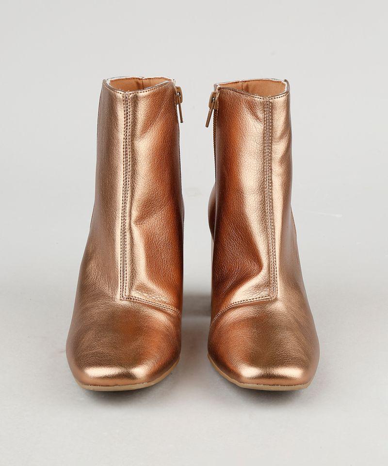 Bota-Feminina-Oneself-Cano-Curto-Salto-Medio-Bico-Quadrado-Metalizada-Dourada-9944708-Dourado_5