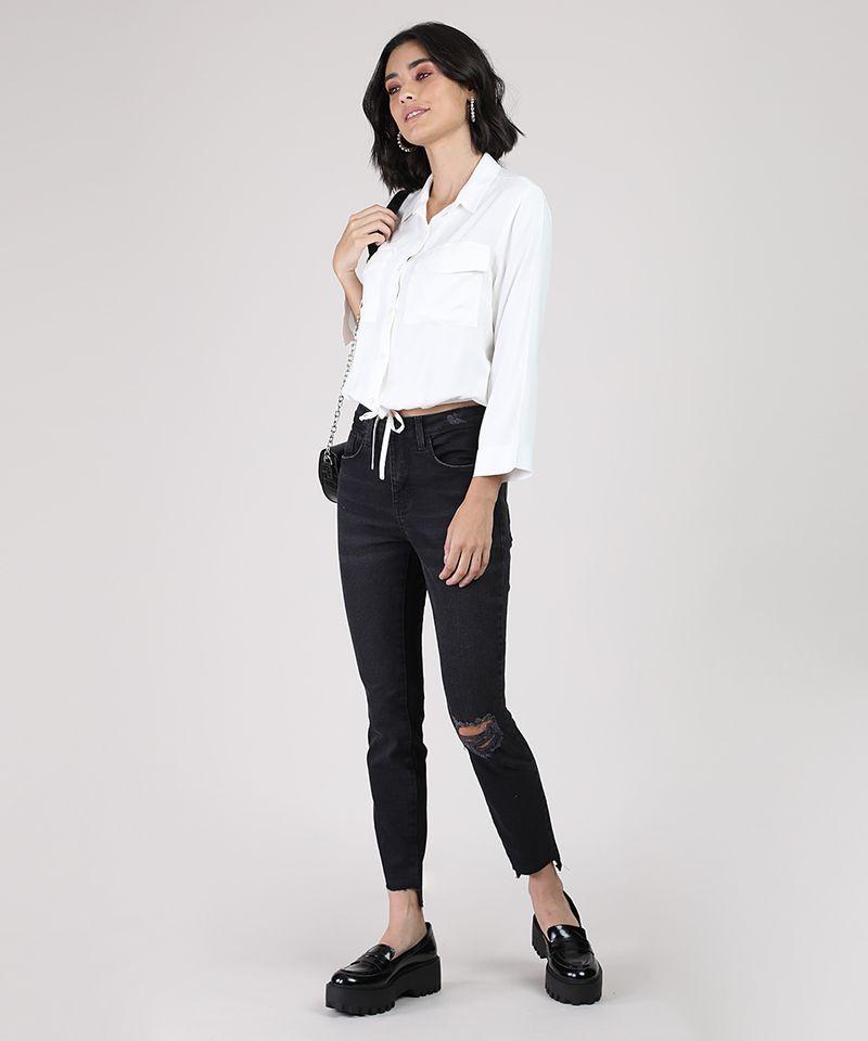 Calca-Jeans-Feminina-Cigarrete-Cintura-Media-com-Rasgo-Preta-9932021-Preto_3