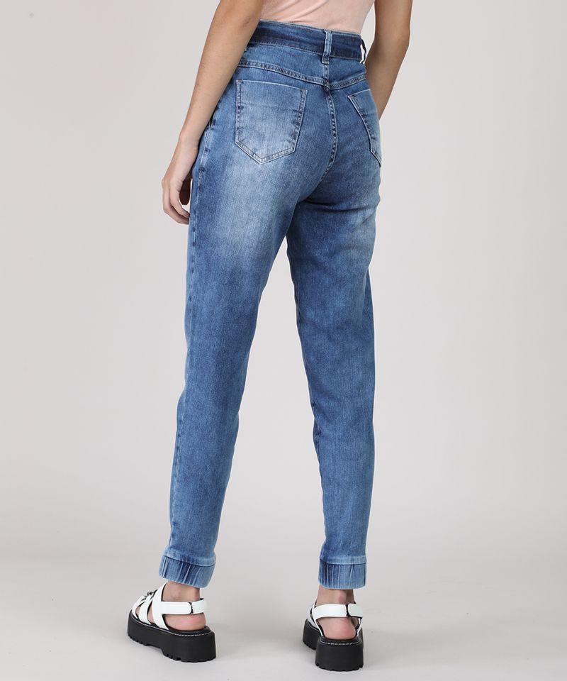 Calca-Jeans-Feminina-Sawary-Jogger-Cintura-Media-com-Faixa-para-Amarrar-Azul-Medio-9949251-Azul_Medio_2