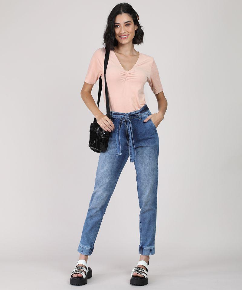 Calca-Jeans-Feminina-Sawary-Jogger-Cintura-Media-com-Faixa-para-Amarrar-Azul-Medio-9949251-Azul_Medio_3