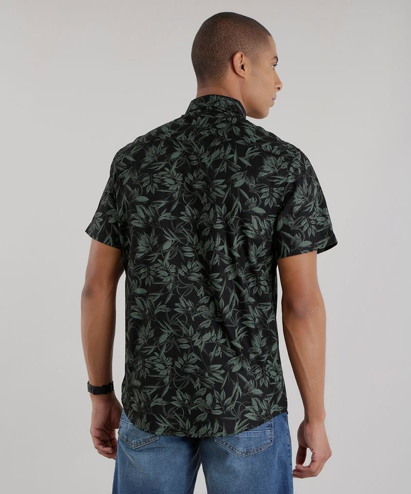 Camisa-Estampada-de-Folhagem-Preta-8394874-Preto_2