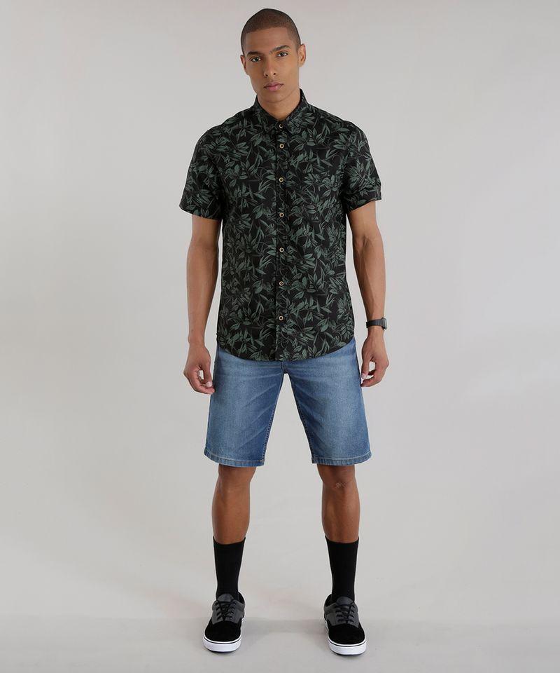Camisa-Estampada-de-Folhagem-Preta-8394874-Preto_3
