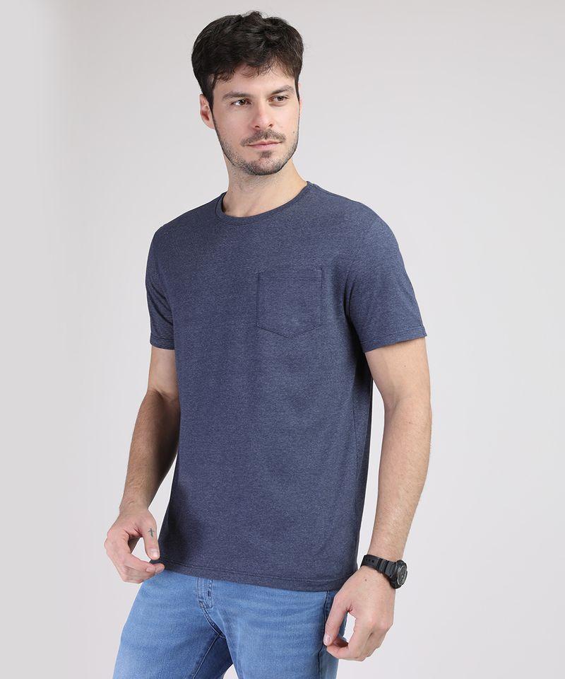 Camiseta-Masculina-Basica-com-Bolso-Manga-Curta-Gola-Careca-Azul-Marinho-9941894-Azul_Marinho_1
