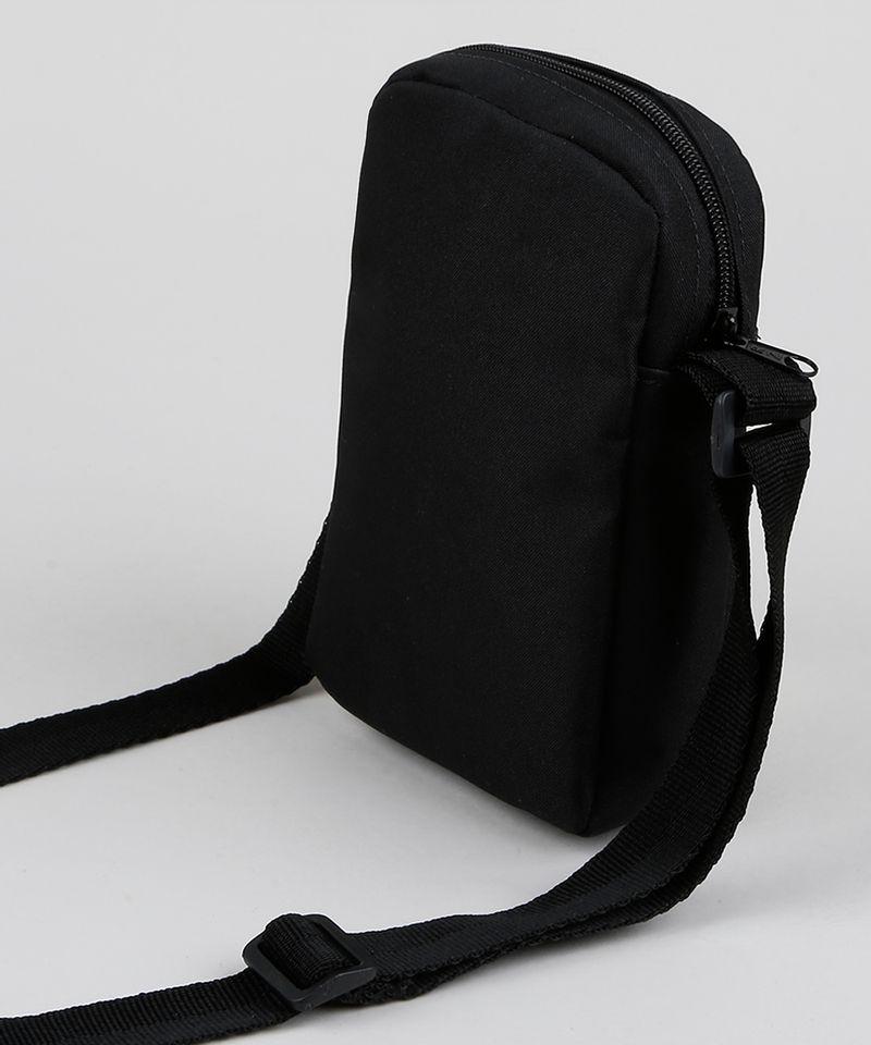 Shoulder Bag Transversal Masculina Preta Alças