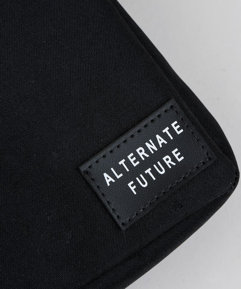 Shoulder Bag Transversal Masculina Preta Tecido