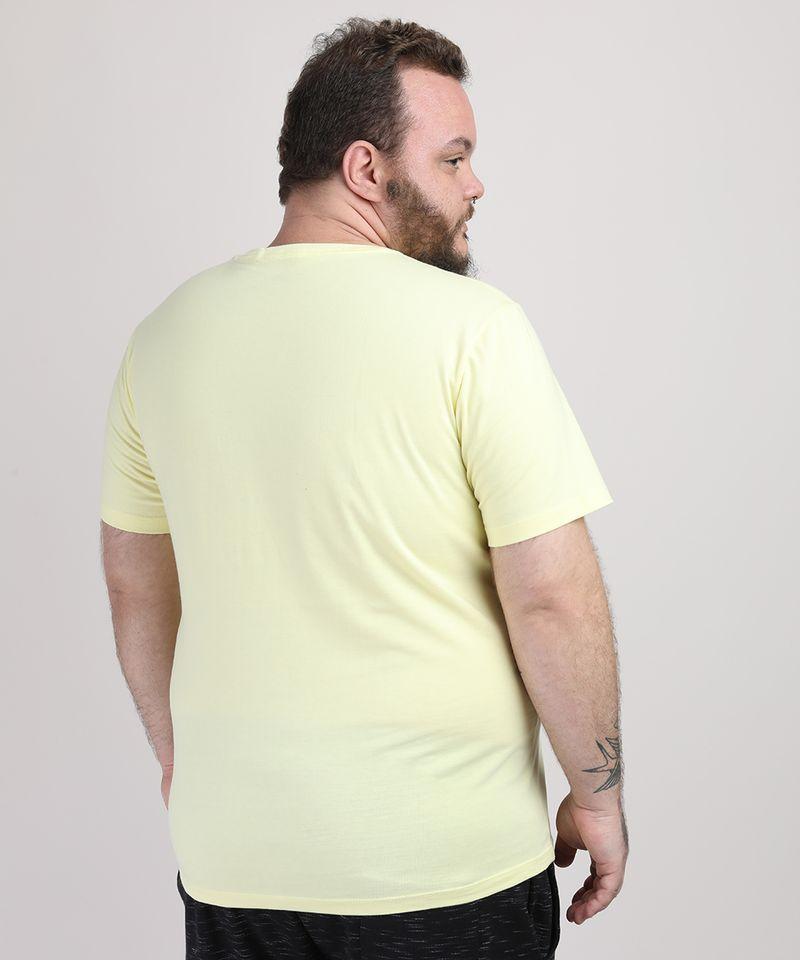 Camiseta-Masculina-Plus-Size-Manga-Curta-Gola-Careca-Amarelo-Claro-9951397-Amarelo_Claro_2