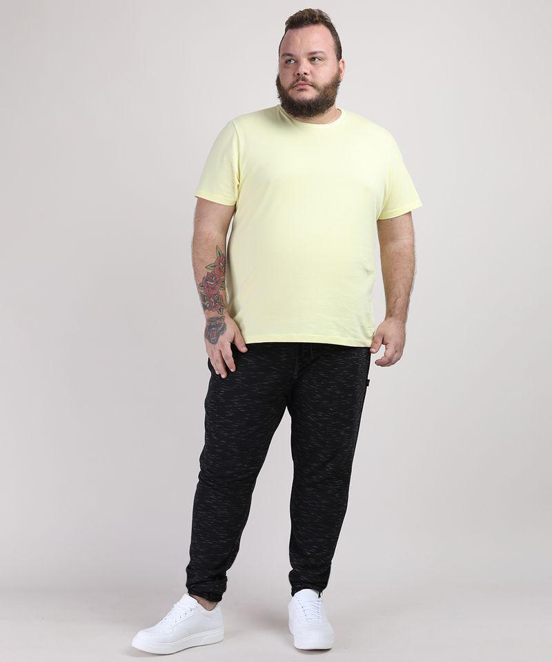 Camiseta-Masculina-Plus-Size-Manga-Curta-Gola-Careca-Amarelo-Claro-9951397-Amarelo_Claro_3