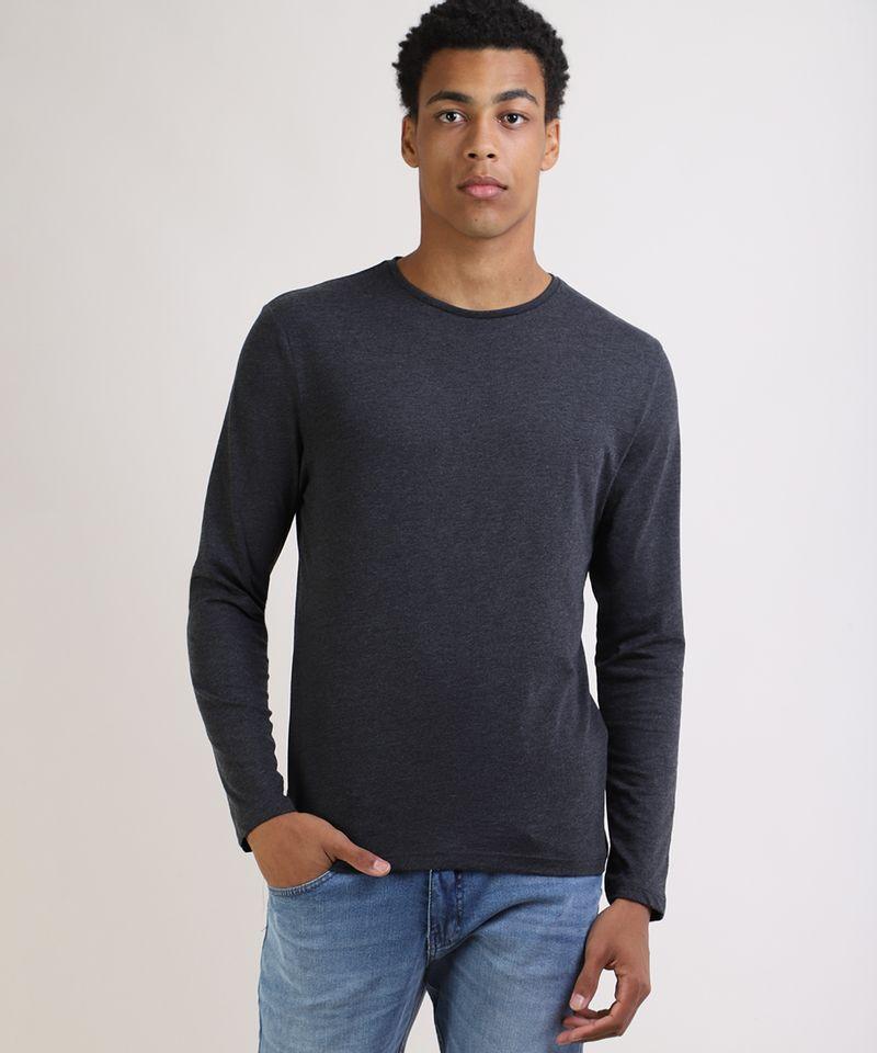 Camiseta-Masculina-Basica-Comfort-Fit-Manga-Longa-Gola-Careca--Cinza-Mescla-Escuro-9826872-Cinza_Mescla_Escuro_1