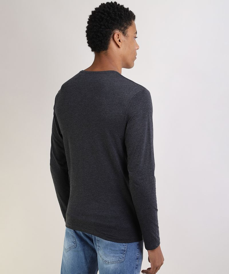 Camiseta-Masculina-Basica-Comfort-Fit-Manga-Longa-Gola-Careca--Cinza-Mescla-Escuro-9826872-Cinza_Mescla_Escuro_2
