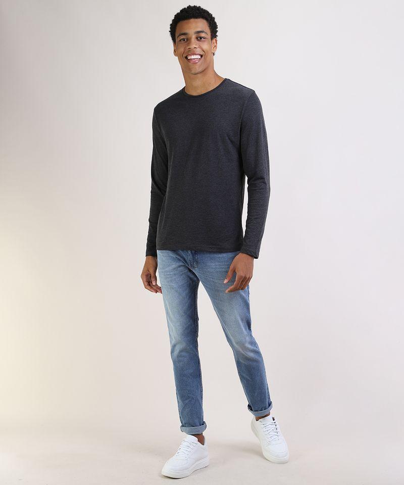Camiseta-Masculina-Basica-Comfort-Fit-Manga-Longa-Gola-Careca--Cinza-Mescla-Escuro-9826872-Cinza_Mescla_Escuro_3