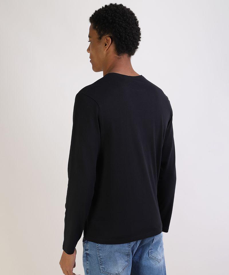 Camiseta-Masculina-Basica-Comfort-Fit-Manga-Longa-Gola-Careca-Preta-9826872-Preto_2