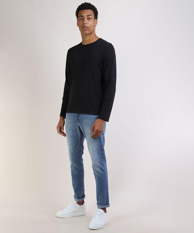 Camiseta-Masculina-Basica-Comfort-Fit-Manga-Longa-Gola-Careca-Preta-9826872-Preto_3
